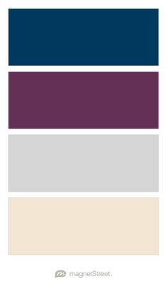 Navy, Eggplant, Silver, and Champagne Wedding Color Palette - custom color palette created at MagnetStreet.com