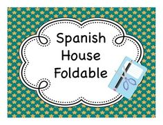Spanish house (casa) foldable for learning rooms of the house and furniture inside Spanish Teacher, Spanish Classroom, Teaching Spanish, Spanish Interactive Notebook, Interactive Student Notebooks, Spanish Lesson Plans, Spanish Lessons, Spanish House, Spanish 1