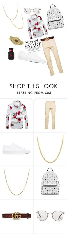 """Untitled #405"" by briettani-michael ❤ liked on Polyvore featuring Dsquared2, Common Projects, Rolex, Lord & Taylor, David Yurman, MCM, Gucci, Ray-Ban, Ralph Lauren and men's fashion"