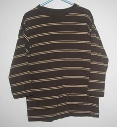 Toddler Boys Faded Glory Vintage Wash Brown Long Sleeve Shirt Size XS 4/5 #FadedGlory
