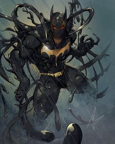 Symbiote Batman you guys seem to dig my alternate creations- - Batman Poster - Trending Batman Poster. - Symbiote Batman you guys seem to dig my alternate creations- Dc Comics Art, Marvel Dc Comics, Anime Comics, Comic Book Characters, Comic Books Art, Comic Art, Batman Poster, Batman Artwork, Batman Fan Art