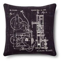 Chalkboard Throw Pillow - Grey (20x20) - The Industrial Shop™