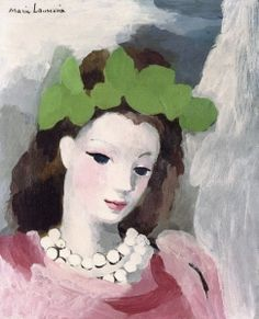 Woman with Flowers on Her Hair - Marie Laurencin - The Athenaeum