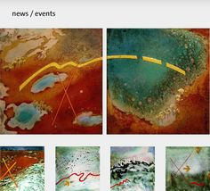 jenny gore enamel - pieces from the Lake Eyre series
