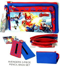 MARVEL SPIDERMAN PENCIL CASE Large Nylon Storage Licensed Character Stationery