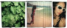 Get your own picture printed on a custom made shower curtain!