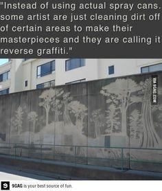 Reverse graffitti