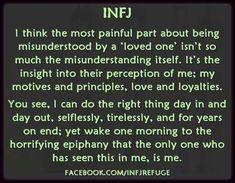 infj misunderstood - it sounds a little self absorbed, because it is. Infj Mbti, Intj And Infj, Infj Type, Enfj, Infj Traits, Rarest Personality Type, Infj Personality, Myers Briggs Personality Types, Personality Characteristics