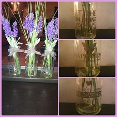 Vaasjes voor € 0,69 p/st. bij de Action, Lavendel boeket (nep) 1 stuk € 1,39 bij de Action, lente in huis