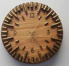 Bullet casings clock