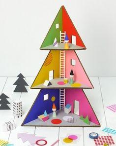 christmas-tree-cardboard-doll-house