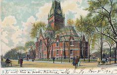 "Memorial Hall (Dining Hall) - Raphael Tuck & Sons' Post Card Series No. 1059 ""Harvard University"" dated 8 Nov 1905"