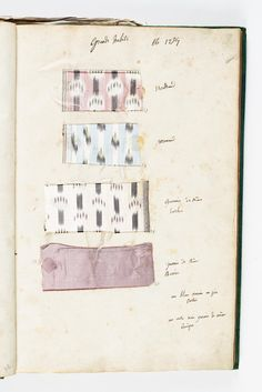 Marie Antoinette's Wardrobe Book from 1782