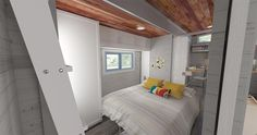 Bedroom w/ Bed Folded Down - Aurora by ZeroSquared