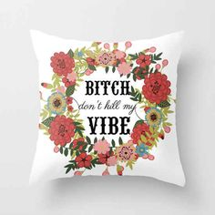 "Pull out this throw pillow when your roommate asks, ""Another episode, really?"""
