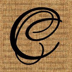 Monogram  Initial Letter C Letter Clip Art by InstantPrintable, $1.80