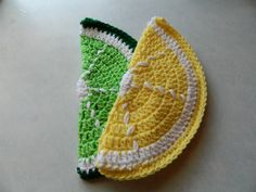 Crocheted Lemon and Lime Pot Holders//Hot by ThreadOrnaments, $8.00