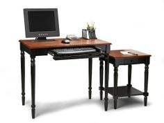 French Country Desk Set With an End Table by Convenience Concepts, Inc.. $351.04. Fits easy with any décor. Easy Assembly Tools Provided. Will Provide Years of Enjoyment. Elegant Two Tone Cherry and Black Finish. Perfect for Home Office. Classic lines and an attractive finish make French Country furniture the ellegant choice. The French Country Desk Set will fit any décor.Color BlackFinish Medium Wood