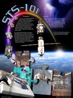 STS-101 Mission poster