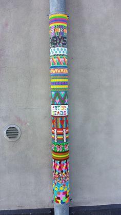 street art with hama beads perler