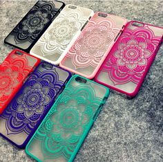 "Beautiful Floral Henna Paisley Mandala Palace Flower Phone Cases Cover For iPhone 5 5S 6 6S 4.7 6plus 5.5 "" FREE SHIPPING """