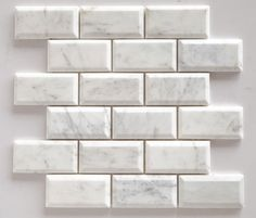 Bianco Venatino Marble 2X4 Deep-Beveled & Polished Subway TILE- LOT of 20 SHEETS #OracleTileStone
