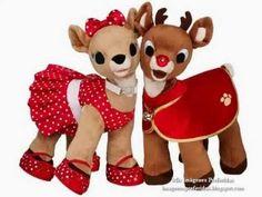 Rudolph and Clarice Reindeers Photo: render. This Photo was uploaded by dreena_bucket Days Until Christmas, Christmas Movies, Christmas Holidays, Merry Christmas, Christmas Decorations, Christmas Christmas, Blue Dream, Clarice Reindeer, Build A Bear Reindeer