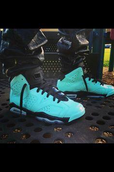 Custom Mint Jordan 6's
