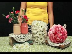 How to Make Hanging Flower Balls. Such a fun DIY tutorial!  http://youtu.be/N99diQU6n1c