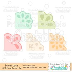 Sweet Lace Photo Corners SVG Cut File Set - Includes Limited Commercial Use License! Scrapbooking SVG Files, SVG, Cricut Explore, Cricut Design Space, Silhouette, Silhouette Cameo, Silhouette Portrait, SVG cuts, Pazzles Inspiration, Eclips, Cutting Files, Make the Cut, Sure Cuts a Lot, SCaL, and other electronic craft cutting machines for scrapbooking, card making, paper crafts and more!
