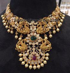 Four Peacocks Pachi Choker - Jewellery Designs