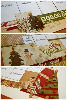 Christmas layout ....how to use a bunch of photos on a double pay layout!