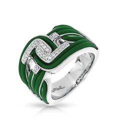 Capri Jewelers Arizona ~ www.caprijewelersaz.com Nexus Emerald Green Ring by Belle Étoile