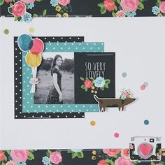 All About Scrapbooks - Carpe Diem by Simple Stories - So Very Lovely layout by Rachel Lowe: