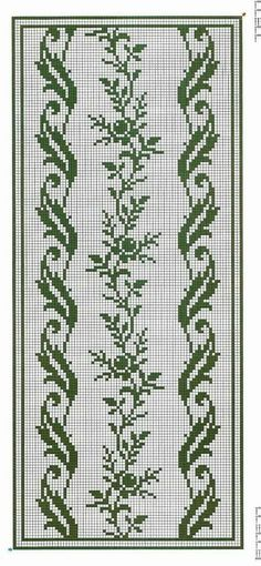 Crochet Border Stitch I'd do it in a different colour. Funny Cross Stitch Patterns, Cross Stitch Borders, Cross Stitch Rose, Cross Stitch Flowers, Cross Stitch Designs, Cross Stitching, Crochet Borders, Cross Stitch Embroidery, Embroidery Patterns