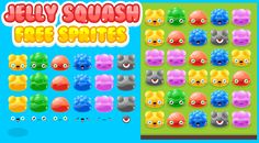 Free cute jelly sprites for you match three or puzzle games. With 6 different jelly types & colors. Also 6 different facial expression. Mix & match them to get different feelings. #game #assets #2d #jelly #splash #crush #match #three
