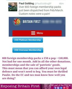 £40,000 in one month just for forienf memberships?