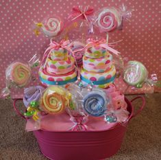 Baby Shower Gift Baskets | Flore Cakes: Baby Shower wash cloth gift basket