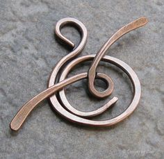 Large Antiqued Copper Toggle Clasp 14 gauge Hand by DesignsbyCher, $5.95