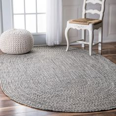 Nuloom Handmade Casual Solid Braided Oval Indoor Outdoor Rug 8 6 X 11 By