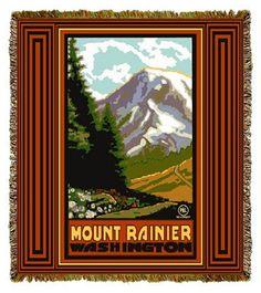 Mount Rainer Artist Tapestry