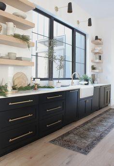Home Decor Kitchen, New Kitchen, Home Kitchens, Modern Kitchen Design, Interior Design Kitchen, House Kitchen Design, Home Decor Inspiration, Kitchen Remodel, Sweet Home