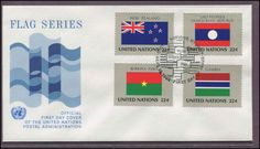 UNITED NATIONS 1986-FLAGS OF NATIONS- CACHET-FDC FIRST DAY COVER#100865