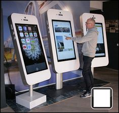 Learn some ways to use touch screen technology to improve engagement and interaction at your company's next meeting or event. Junior Achievement, Event App, Touch Tablet, Interactive Display, Meeting Planner, Touch Screen Technology, Self Service, Advertising Services, Digital Signage