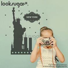 New York City wall decal for kids and adult  NYC by looksugar