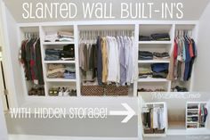 How to create slanted wall built-ins with hidden storage, picture tutorial at MyLove2Create.