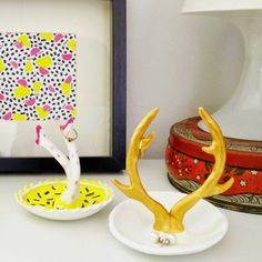 Make your own ring holder using air dry clay