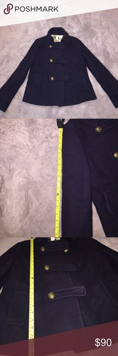 80%Wool J Crew Pea Coat In great used condition J Crew Wool Pea coat with 3Buttons j crew Jackets & Coats Pea Coats