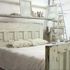 vintage french country shabby bed frame :)  @Robin S. Ferderer