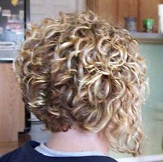 Cute Short Curly Inverted Bob Hairstyles